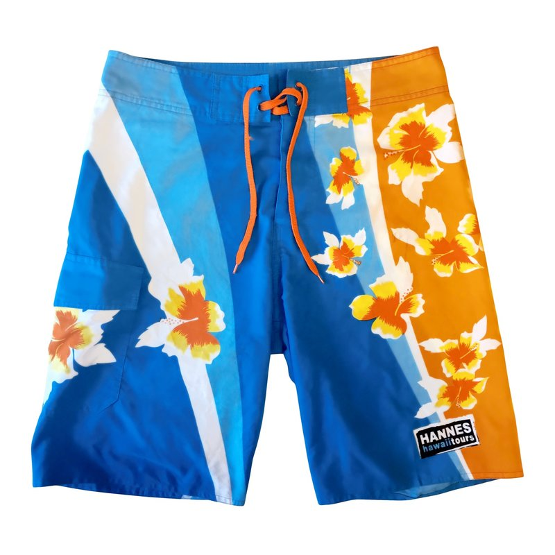 Herrenshorts orange/ blau