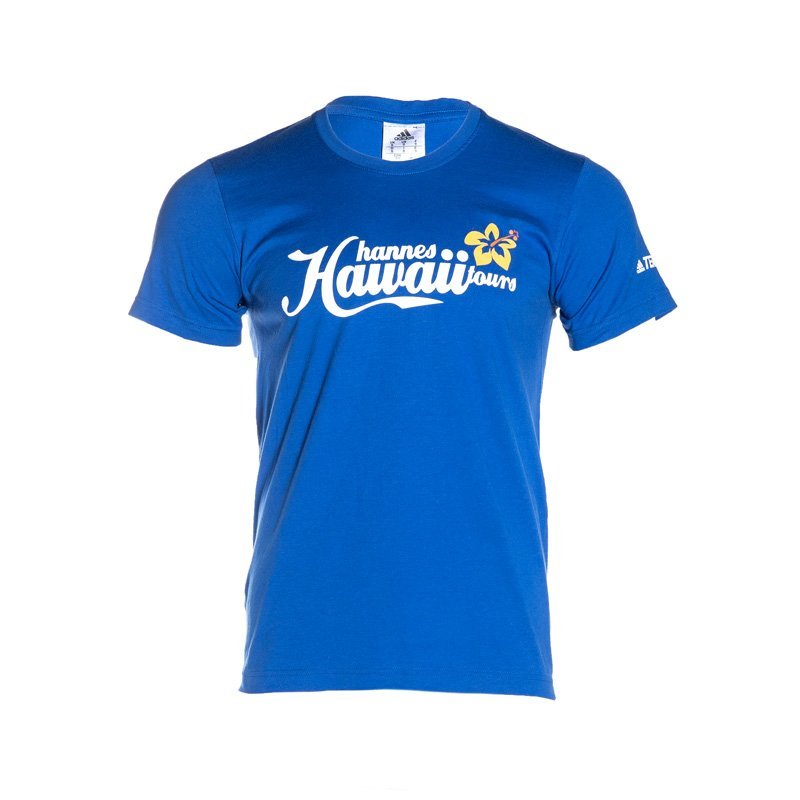 HHT T-Shirt Kinder blue/white