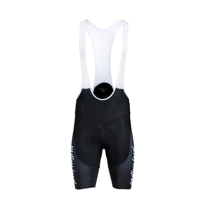 Flexen Road Bib Short Men black/white Gr. S