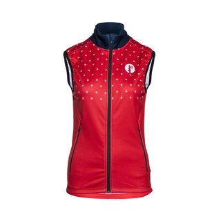 Haunani Performance Vest Women red/white