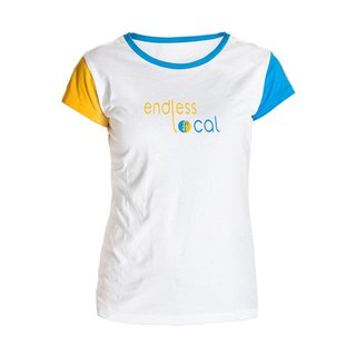 Inoa T-Shirt Woman white/yellow
